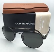 Polarized OLIVER PEOPLES Sunglasses HASSETT OV 1203-S 5062P2 Matte Black w/ Grey