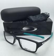New OAKLEY Eyeglasses CHAMFER OX 8039-0953 53-18 Black & Sea Foam Frame w/ Clear