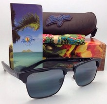 New MAUI JIM Sunglasses KAWIKA MJ 257-17C Black & Pewter w/Polarized Gre... - $299.95