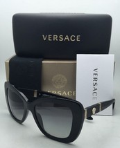 New VERSACE Sunglasses VE 4305-Q GB1/11 Black & Gold Frame w/ Grey Gradient Lens