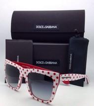 New DOLCE&GABBANA Sunglasses DG 4228 2875/8G White&Red Frame w/Grey w/Polka Dots