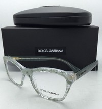 New DOLCE&GABBANA Rx-able Eyeglasses DG 3198 2855 54-18 Clear Frame w/Green Lace