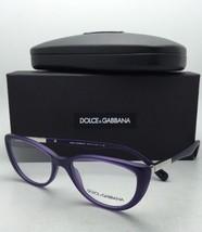 New DOLCE & GABBANA Rx-able Eyeglasses DG 3155 2701 52-17 Matte Violet Frames