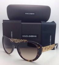 DOLCE&GABBANA Sunglasses DG 4213 502/13 55-19 Havana Cat-Eye Frame w/Brown Fade
