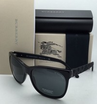 7bc6e8aa0b07 New BURBERRY Sunglasses B 4183 3001 87 58-17 140 Black Frame w