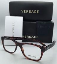 New VERSACE Rx-able Rectangular Eyeglasses 3199 879 53-17 Havana Tortoise Frames