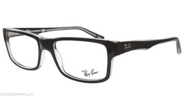 New RAY-BAN Rx-able Eyeglasses/Frames RB 5245 2034 54-17 Black on Clear Frame