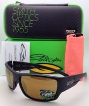 Polarized SMITH OPTICS Sunglasses FRONTMAN Matte Black w/CHROMAPOP Bronze Mirror