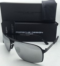 New PORSCHE DESIGN Titanium Sunglasses P'8579 B Black Frame w/Grey+Silver Mirror