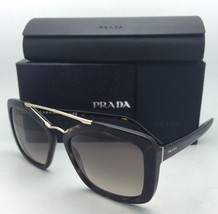 New PRADA Sunglasses SPR 24R 2AU-3D0 56-17 Tortoise & Gold Frames w/ Brown Fade - $324.95
