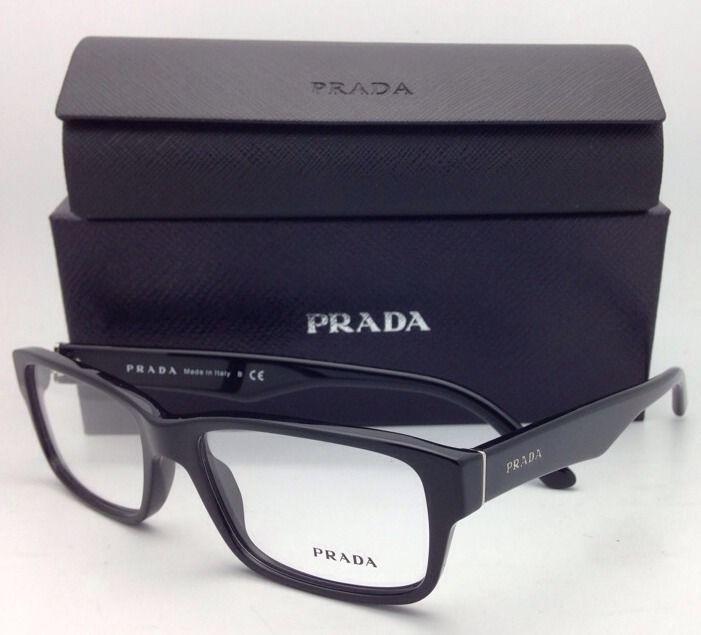 c3c40055267 New PRADA Eyeglasses VPR 16M 1AB-1O1 53-16 140 Black Plastic Frame w Demo  Lenses -  229.95
