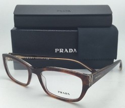 New PRADA Eyeglasses VPR 18O BF4-1O1 52-18 Lace Havana Cat-Eye Frame w/ ... - $254.95