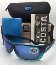 Polarized COSTA Sunglasses CAT CAY AT 73 Caribbean Blue Fade Frame w/Blue Mirror