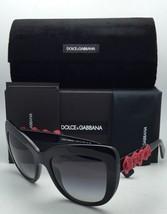 New DOLCE&GABBANA Sunglasses DG 4252 501/8G 55-20 Black-Red Roses w/ Grey Fade