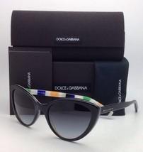 New DOLCE & GABBANA Sunglasses DG 4181P 2717/8G 56-19 Black w/Grey gradient lens