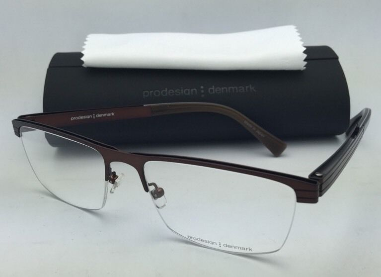486429ae74 New PRODESIGN DENMARK Eyeglasses 4135 5031 56-18 Semi-Rimless Bronze Brown  Frame -  199.95