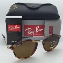 New Ray-Ban Sunglasses ICONS RB 2447 1160 52-21 Havana & Gold w/B15 Brown lenses