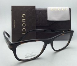 New GUCCI Eyeglasses GG 1052 WR9 53-17 Brown Havana Frame w/ Clear Demo Lenses