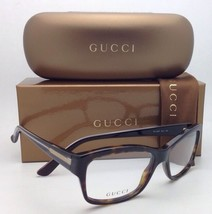 Authentic GUCCI Eyeglasses GG 3205 0O2 53-16 Havana Olive Frames w/ Demo Lenses