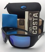 Polarized COSTA Sunglasses BLACKFIN BL 11 Matte Black Frame w/Blue Mirror Lenses