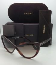 New TOM FORD Sunglasses MADISON TF 253 52F Havana Cat-Eye Frame w/Brown Gradient