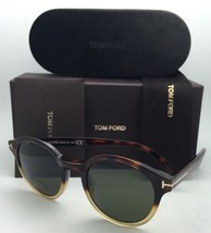 New TOM FORD Sunglasses LUCHO TF 400 58N 49-21 Tortoise-Beige Frame w/Green Lens - $399.95