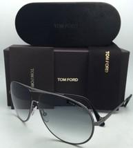 New TOM FORD Sunglasses CLIFF TF 450 09B 61-11 Gunmetal+Black Frames w/Grey Fade