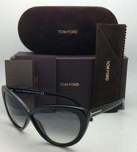 TOM FORD Sunglasses MADISON TF 253 01B 63-10 Black Cat-Eye Frame w/Gray Gradient - $399.95