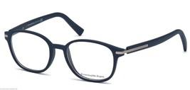 New ERMENEGILDO ZEGNA Eyeglasses EZ 5004 090 49-17 145 Shiny Blue Frame ... - $219.95