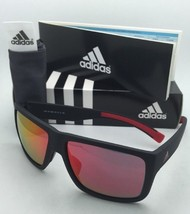 ADIDAS Sunglasses MATIC A426 00 6055 Matte Black & Red Frame w/ Grey+Red Mirror
