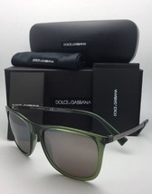 DOLCE & GABBANA Sunglasses DG 6106 3068/Y8 Green-Gunmetal w/ Gold Matte Mirror