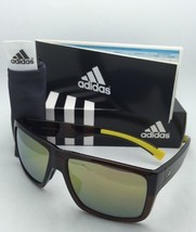 ADIDAS Sunglasses MATIC A426 00 6056 Brown Triax Yellow Frame w/Grey+Gold Mirror