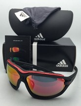 ADIDAS Sunglasses EVIL EYE EVO PRO L A193/00 6050 Matte Black frame w/Red Mirror