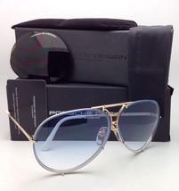 PORSCHE DESIGN Titanium Aviator Sunglasses P'8478 W 69-10 Gold White-2 Lens Sets