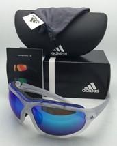 ADIDAS Sunglasses EVIL EYE EVO PRO L A193 6063 Matte Crystal Frame w/Blue Mirror