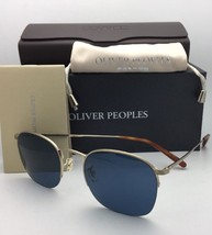 Oliver Peoples Sunglasses Rickman Ov 1209S 523680 Gold Frames With Blue Lenses - $399.99