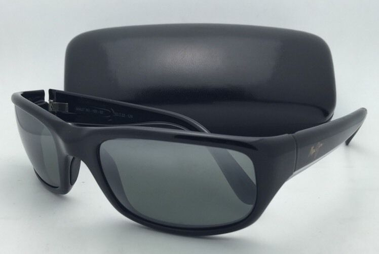 55ead3b21c S l1600. S l1600. Previous. Polarized Maui Jim Sunglasses MJ 103-02  STINGRAY Black Frame w Neutral Grey Lens