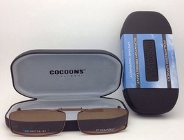COCOONS Amber Polarized Sunglasses/Eyeglasses Over Rx Clip-on REC 18-51 Bronze