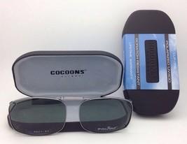 COCOONS Grey Polarized Sunglasses/Eyeglasses Over Rx Clip-on REC 7-54 Gunmetal