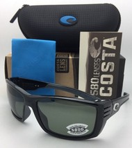 Polarized COSTA Sunglasses CORTEZ CZ 11 Shiny Black Frame w/ 580 Grey Lenses