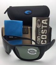 Polarized COSTA Sunglasses FISCH FS 01 Blackout Frame w/ 580 Grey Lenses - $229.95