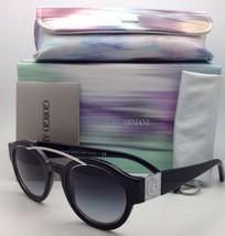 New GIORGIO ARMANI Sunglasses AR 8036-H 5017/8G 47-23 Black Frame /Grey ... - $349.95