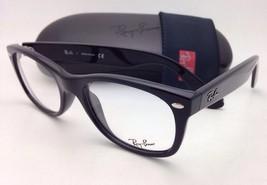 New RAY-BAN Rx-able Eyeglasses RB 5184 2000 50-18 Black Frames w/ Demo Lenses