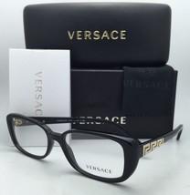 New VERSACE Eyeglasses 3178-B GB1 53-16 135 Black w/Crystals & Clear demo lenses