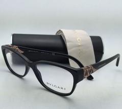 New BVLGARI Eyeglasses 4104-B 501 54-16 140 Black & Bronze Frame w/ Crystals