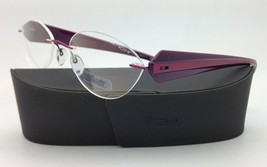 New SILHOUETTE Eyeglasses MYSTERO 6699 6052 54-17 Burgundy w/ Clear Demo... - $267.95