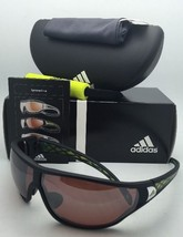 Polarized ADIDAS Sunglasses TYCANE PRO L A189 6051 Black & Yellow Frames w/ LST