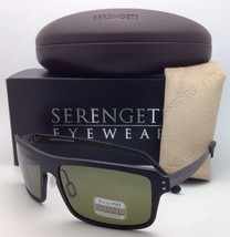 SERENGETI PHOTOCHROMIC POLARIZED Sunglasses Duccio 7817 Black Frame w/ P... - $239.95