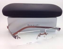 New KAZUO KAWASAKI Eyeglasses MP 704 43 51-19 Titanium Rimless Brown w/Demo lens