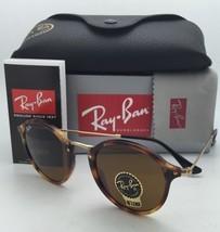 New Ray-Ban Sunglasses ICONS RB 2447 1160 49-21 Havana & Gold w/B15 Brown lenses